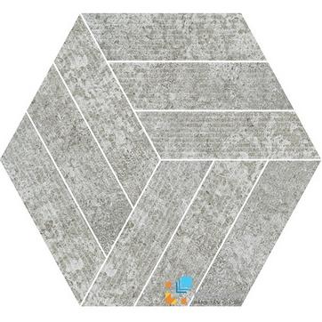 Gạch Aparici Rugo Grey Rigato Mosaico Hexagonal G-3822