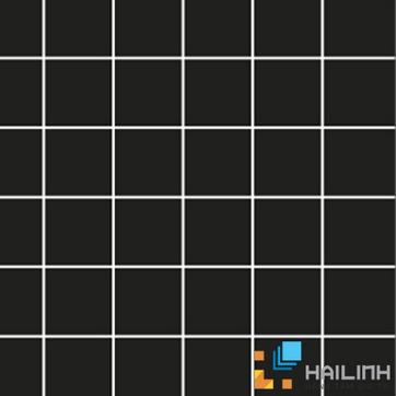 Gạch Aparici Fuji Negro Pulido Mosaico 5x5 G-3708