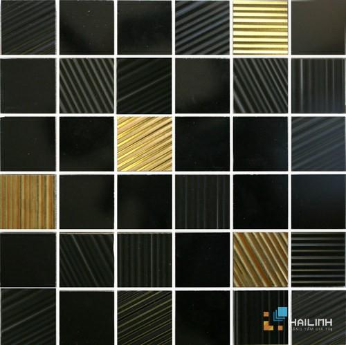 Gạch Aparici Noise Negro Mosaico 5x5 G-3756