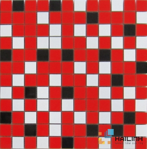 Gạch Aparici Nordic Mix Red Mosaico 2,5x2,5 G-3756