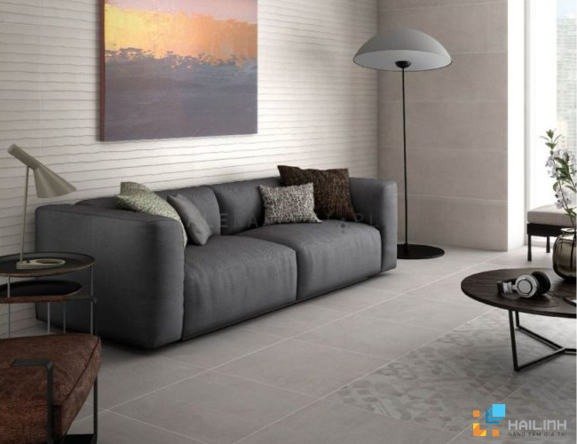 Phòng mẫu Gạch Saloni Invent Gris CDF710