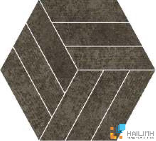 Gạch Aparici Rugo Anthracite Rigato Mosaico Hexagonal G-3822