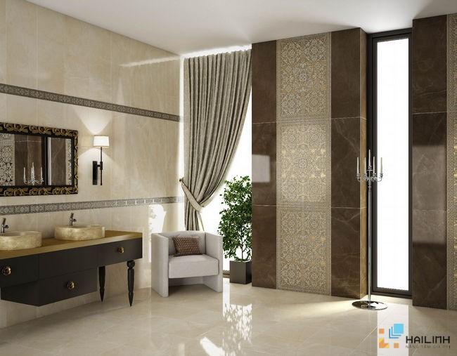 Phòng mẫu Gạch Saloni Pulpis Marfil BZA670