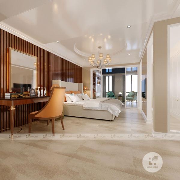 gạch lát nền vân đá cho phòng ngủ hiện đại